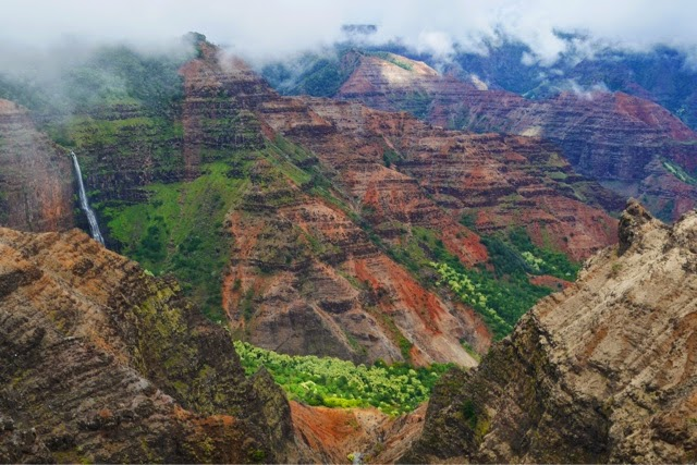 Waimea Canyon, a trifle damply.